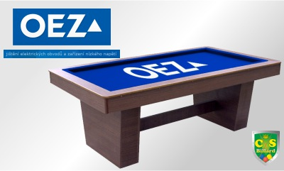 reklamní kulečníkový stůl OEZ